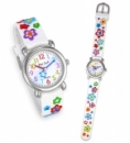 Pacific Time Kinderarmbanduhr 3D Blume